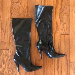 BCBGIRLS Black Leather Boots